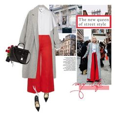 """""""Best NYFW Street Style"""" by erino9519 ❤ liked on Polyvore featuring Zara, Kenzo, Sonia Rykiel, Yves Saint Laurent, Guide London, women's clothing, women, female, woman and misses"""