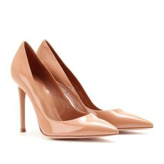 Gianvito Rossi Patent Leather Pumps ($524) ❤ liked on Polyvore