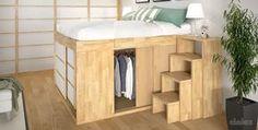 Doppelbett / modern / Holz / integrierter Stauraum - IMPERO - Cinius