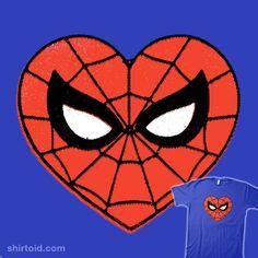 Love Spider-Man, a t-shirt by Captain Ribman at UmamiTees Geek Shirts, Marvel Comics, Spiderman, Geek Stuff, Superhero, Love, Fictional Characters, Film, Heart