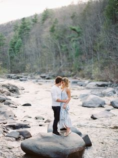 Engagement session in the river. Natural light.  #photography #engagementsession