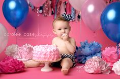 Birthday Girl!!!  I love a good cake smash!  Caralee Case Photography.  Baby and Child Photographer.