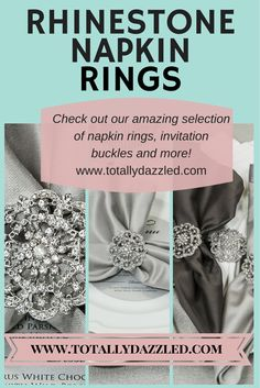 Check out this site for the most stunning rhinestone napkin rings at awesome wholesale prices! www.totallydazzled.com
