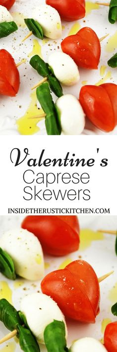 These fun Valentine's Caprese Skewers are a perfect fuss free appetizer using classic Italian ingredients you can't go wrong!www.insidetherustickitchen.com
