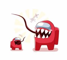Among Us Fan Art - Dad and His Son - Media Chomp Video Game Characters, Disney Characters, Share Icon, American Games, Ship Drawing, Cute Kawaii Drawings, Game Background, Fanart, Geek Art