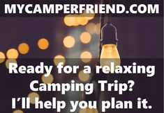 Ready for a relaxing Camping Trip? I'll help you plan it. MyCamperFriend.com offers the best Camping Advice for Newbies and experienced Campers. Everything a RV or Tent Camper needs for a stress-free Camping Trip: Camping Accessories, RV Accessories, Camping Gear, Camping Equipment, RV Parts, Camping Tips, RV Tips, Camping Checklists, RV Checklists, Camping Advice #campingtips #campingchecklist