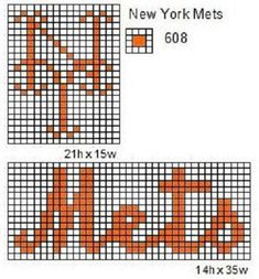 New York Mets logo and name plate