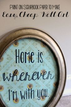 What's better than handmade decorations? EASY handmade decorations! This printable is perfect for an easy piece of text art, and you can customize it to su