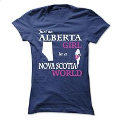 Just a Alberta - Nova Scotia V^3^ - #raglan tee #blue sweater. PURCHASE NOW => https://www.sunfrog.com/LifeStyle/Just-a-Alberta--Nova-Scotia-V3-Ladies.html?68278