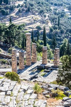 The stunning ruins of Delphi, Greece are a must on a trip to Athens and the surrounding area. #delphi #greece #europe #ruins #travel