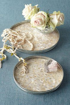 Mother-of-pearl Tray - A lovely addition to your budoir or vanity | Soft Surroundings