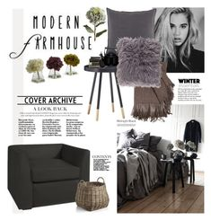 """Modern Farmhouse"" by barngirl ❤ liked on Polyvore featuring interior, interiors, interior design, home, home decor, interior decorating, Pom Pom at Home, Surya, Nearly Natural and Pier 1 Imports"
