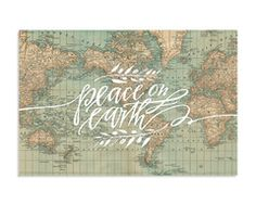 Peace on Earth Canvas #lindsaylettersshop