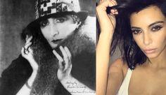 Ideologia ou Performance de Gênero?  Imagem - Marcel Duchamp como Rose Selavy e Kim Kardashian