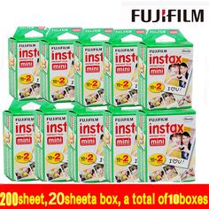>> Click to Buy << Genuine 200 sheet free shipping Fujifilm Instax Mini Film White Edge 200pcs For Instax mini 7s 8 25 50 90 Camera MADE IN JAPAN #Affiliate