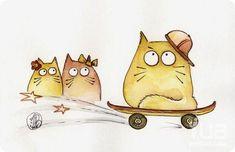 Котики Марии Ван Брюген (Maria-van-Bruggen), коты, рисунки