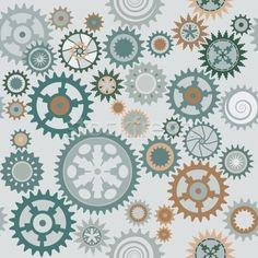 Stock photo: Clock's cog-wheels pattern