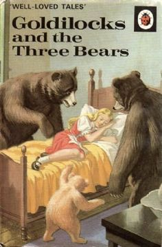 GOLDILOCKS THE THREE BEARS Vintage Ladybird Book Well Loved Tales