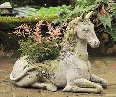 everybody needs a magical horse planter in their garden... right?