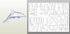 Paper craft Dolphin Big Model DIY Papercraft Paper model