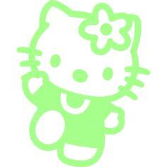 Muurstickers fosforescerend - Muursticker Hello Kitty 2 | Ambiance-live.com