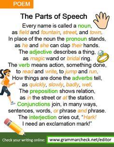 English Grammar Poem - http://www.grammarcheck.net/editor