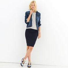 Stretch Twill Pencil Skirt R essentiel - Skirts