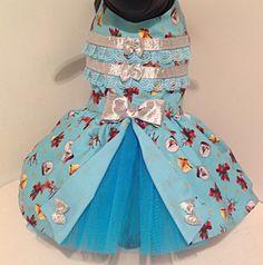 Blue Santa dress by Preciouspupboutique on Etsy