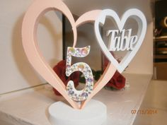 my design of table numbers coloured to your theme
