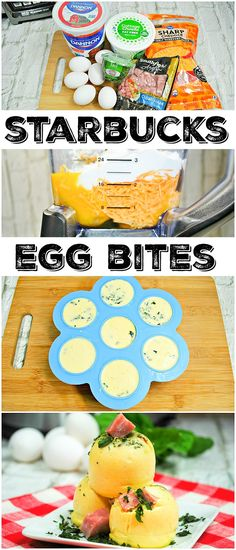 Make Starbucks sous vide eggs you love right at home now! It's never been easier to make your favorite egg bites in your Instant Pot or oven, here's how. #eggbites #starbucks #instantpot #instantpotrecipes #leftoverham #breakfast #copycat #keto #thetypicalmom