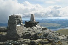 The summit cairn of Ben Lawers, near Kenmore, Perthshire, Perth and Kinross, Scotland. Great Places, Places To Go, Scotland Holidays, Scotland Travel, Great Britain, The Great Outdoors, Wilderness, Monument Valley, Hill Walking