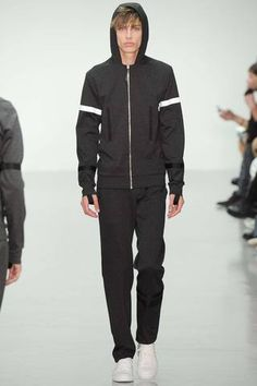 Marc Schulze wearing Lee Roach Spring 2015 Menswear Collection Slideshow on Style.com