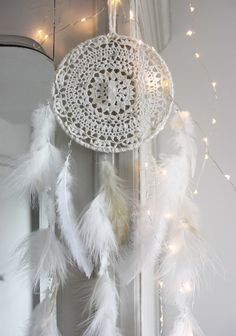 Crystal Spirit . attrape-rêves blanc et naturel par BoudoirDuChaman