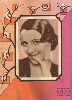 Revista Films Selectos 1933. Alice Field