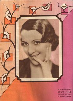 Revista Films Selectos 1933. Alice Field