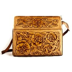 Vintage Purse Bag Hand Tooled Boho Chic by goodmerchants on Etsy, $65.00