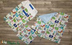 Dinós textilszalvéta (38x38 cm) és uzsonnás zacsi (24x30 cm) (LucaAgi) - Meska.hu Homemade, Sewing, Bags, Products, Handbags, Dressmaking, Home Made, Couture, Stitching