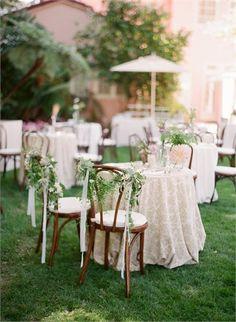 Love this idea for chair decor {Bob Gail Special Events}