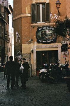 Roma - Via della Pelliccia, Trastevere - Antico Caffè del Moro