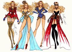 Beyoncé Mrs. Carter World Tour collection by Hayden Williams   Hayden Williams Fashion Illustrations