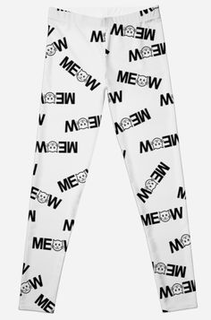 'Meow Print' Leggings by Bithys Online Awesome Leggings, Best Leggings, Christmas Shopping, Printed Leggings, Hoodies, Sweatshirts, Armour, Chiffon Tops, Baby Kids
