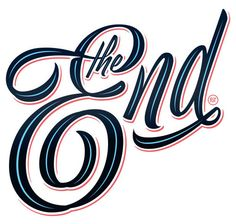 The End in Script Lettering