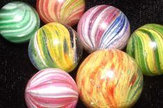 Antique Handmade Onionskin Marbles