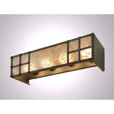 Steel Partners San Carlos 4 Light Vanity Wall Sconce Shade Color: Amber Mica, Finish: Old Iron