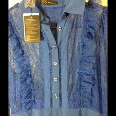 Blue Lace Three Seasons Double Layer Dress
