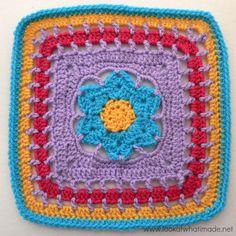 Block a WEek CAL 2014 #11 - Wish Upon a Star Crochet Square Melinda Miller