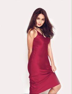Kathryn Bernardo in red dress for Cosmo January 2017 issue. Filipina Actress, Filipina Beauty, Angel Locsin, Cheap Boutique Clothing, Daniel Padilla, Kathryn Bernardo, Celebs, Celebrities, Girl Crushes