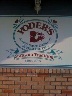 Yoder's Amish Restaurant in Sarasota is awesome! They have the best fried chicken and pies :)