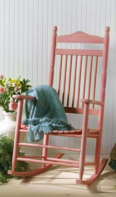 Tons of rocking chairs at Goodwill... paint one in a fun color for the front porch with Waverly Inspirations Chalk @waverlyhome @walmart #plaidcrafts