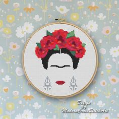 Frida Cross Stitch Pattern Modern Embroidery Frida Kahlo Cross